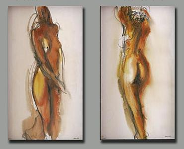 Dafen Oil Painting on canvas the nude girl -set169