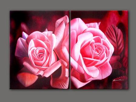 Dafen Oil Painting on canvas flower -set197