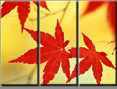 Dafen Oil Painting on canvas red leafage -set198