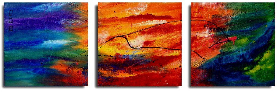 Dafen Oil Painting on canvas abstract -set205
