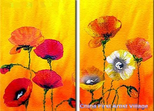 Dafen Oil Painting on canvas flower -set209