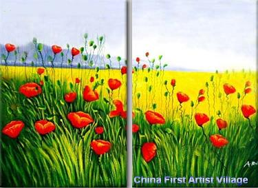Dafen Oil Painting on canvas flower -set210