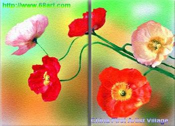 Dafen Oil Painting on canvas flower -set211
