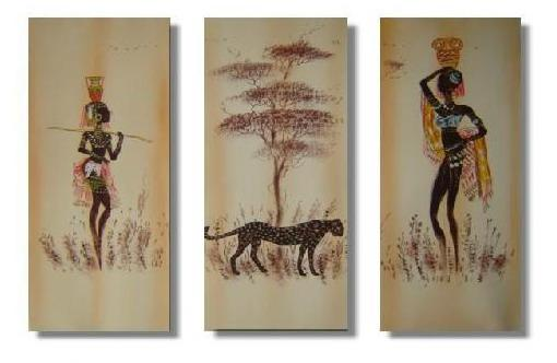 Dafen Oil Painting on canvas Africa girl -set216
