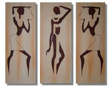 Dafen Oil Painting on canvas Africa girl -set218