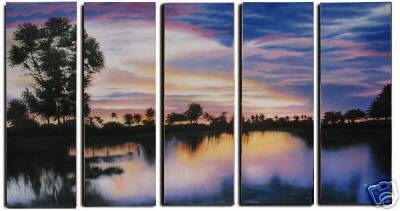 Dafen Oil Painting on canvas sunglow painting -set234