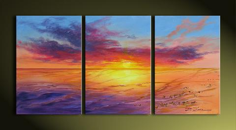 Dafen Oil Painting on canvas seacoast -set272