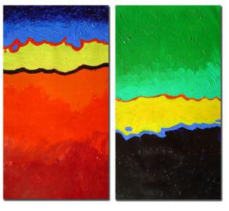 Dafen Oil Painting on canvas abstract-set273