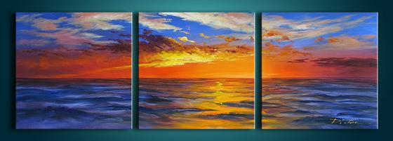 Dafen Oil Painting on canvas sunglow -set275