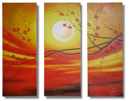 Dafen Oil Painting on canvas flower -set318