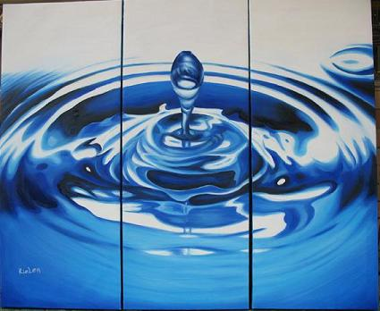 Dafen Oil Painting on canvas blue drop -set330