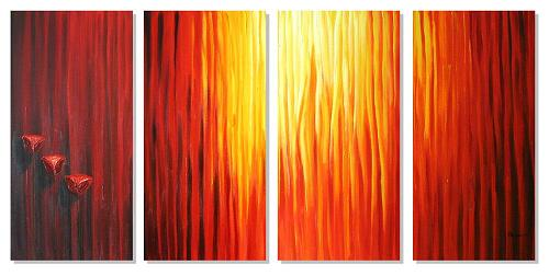 Dafen Oil Painting on canvas abstract -set335