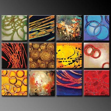Dafen Oil Painting on canvas abstract -set376