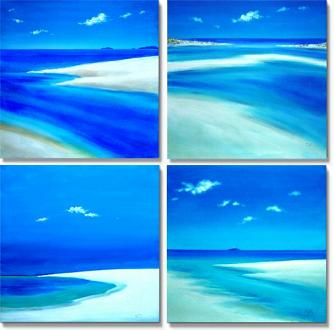 Dafen Oil Painting on canvas abstract -set399