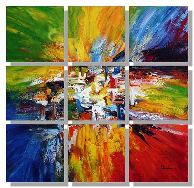 Dafen Oil Painting on canvas abstract -set407