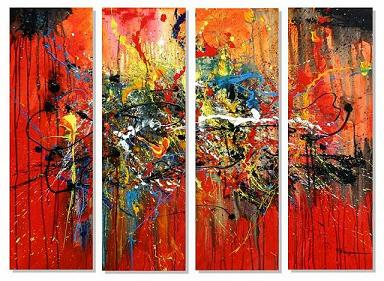 Dafen Oil Painting on canvas abstract -set411