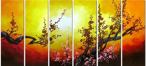 Dafen Oil Painting on canvas flowers -set417