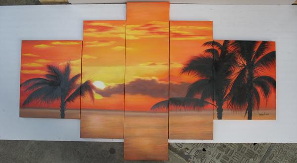 Dafen Oil Painting on canvas seascape painting -set439