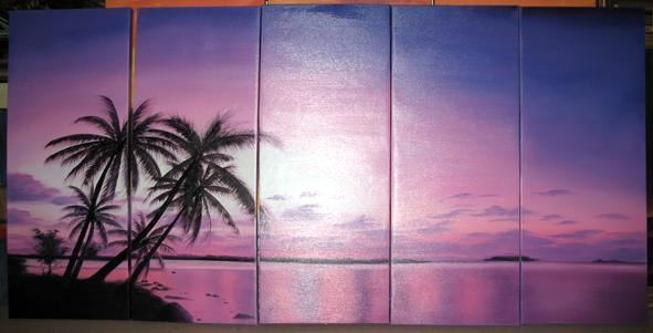 Dafen Oil Painting on canvas seascape painting -set444