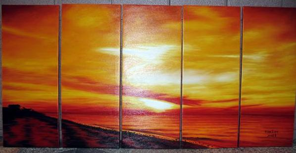 Dafen Oil Painting on canvas sunglow painting -set448