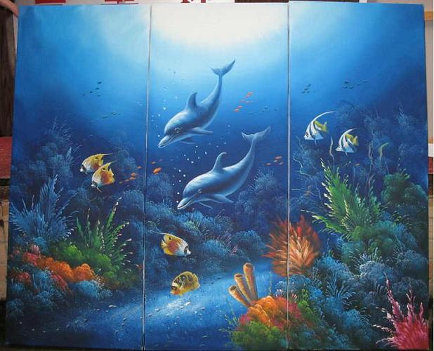 Dafen Oil Painting on canvas world of floor -set533