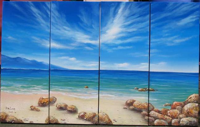 Dafen Oil Painting on canvas ocean wave -set537