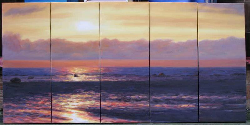 Dafen Oil Painting on canvas seascape painting -set540