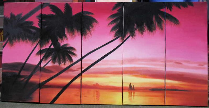 Dafen Oil Painting on canvas seascape painting -set541