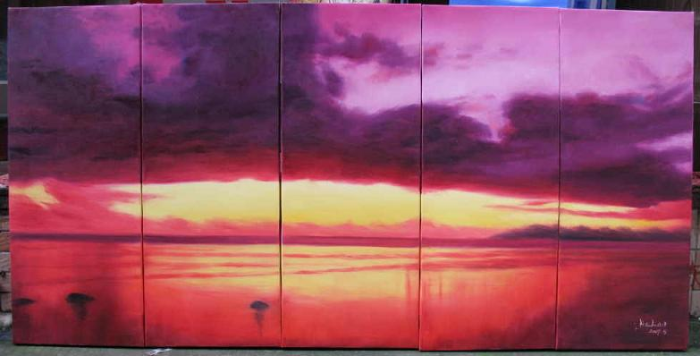 Dafen Oil Painting on canvas seascape painting -set544