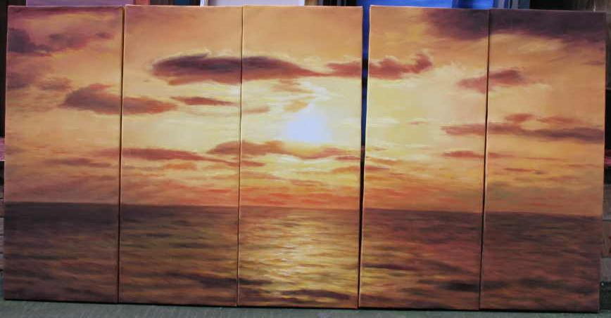 Dafen Oil Painting on canvas seascape painting -set545