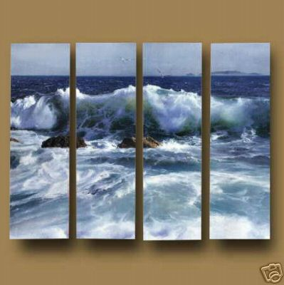 Dafen Oil Painting on canvas ocean wave -set551