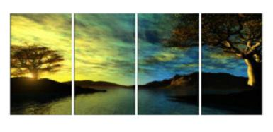 Dafen Oil Painting on canvas the sunglow -set580