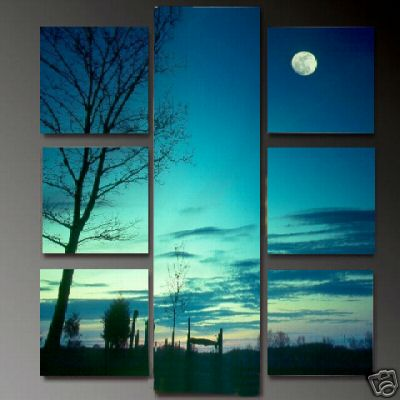 Dafen Oil Painting on canvas sunglow -set655