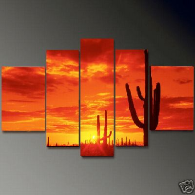 Dafen Oil Painting on canvas sunglow -set656