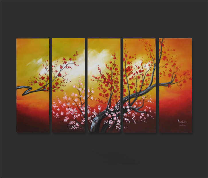 Dafen Oil Painting on canvas flower painting -set662
