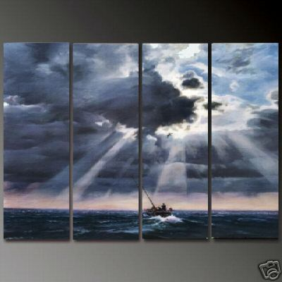 Dafen Oil Painting on canvas seascape painting -set668