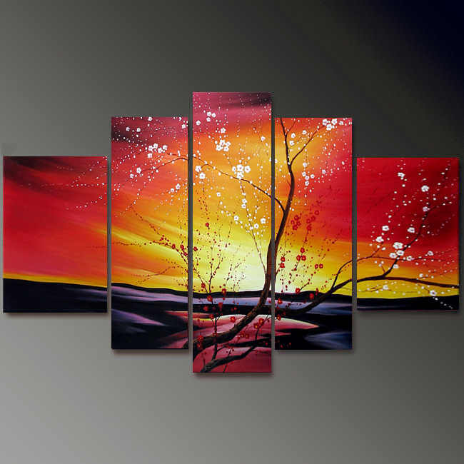 Dafen Oil Painting on canvas flower painting -set697