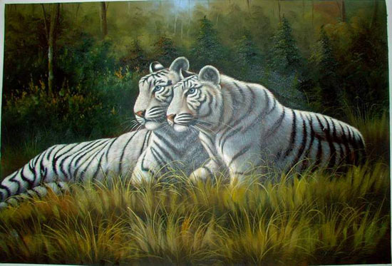 Dafen Oil Painting on canvas -tiger02