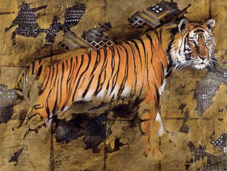 Dafen Oil Painting on canvas -tiger04